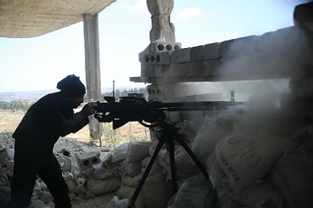 Боевые действия в районе Аль-Рашидин города Алеппо.