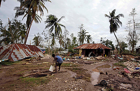 Последствия урагана «Мэтью» в Кавайллоне, Гаити, 6 октября 2016.