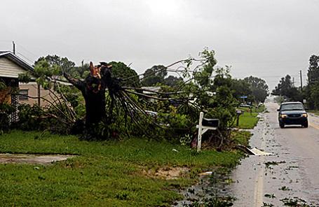 Последствия урагана в Мельбурне, Флорида, США, 7 октября 2016.