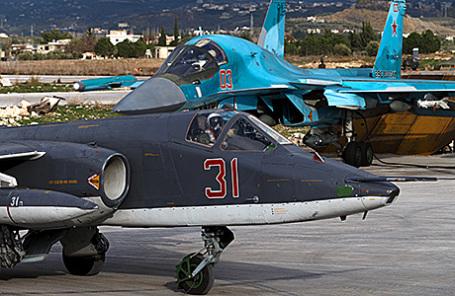 Российская военная авиация на авиабазе «Хмеймим» в Сирии.