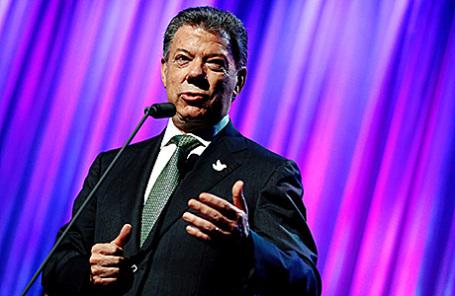 Президент Колумбии Хуан Мануэль Сантос.