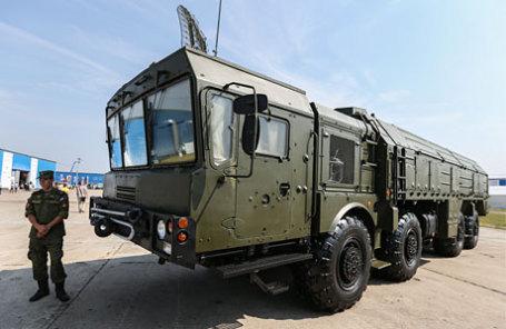 Высокоточный оперативно-тактический ракетный комплекс сухопутных войск «Искандер».