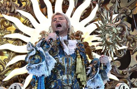 Певец Николай Басков во время шоу «Игра» в Государственном Кремлевском дворце.