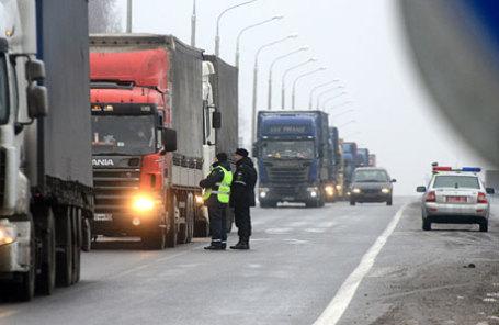 На белорусско-российской границе.