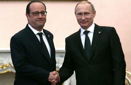 Франсуа Олланд и Владимир Путин.