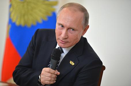 Президент России Владимир Путин на пресс-конференции по итогам встречи лидеров стран БРИКС.