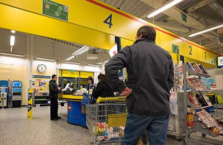 Супермаркет в Ивало, Финляндия.