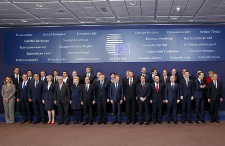Саммит глав государств и правительств стран ЕС в Брюсселе.