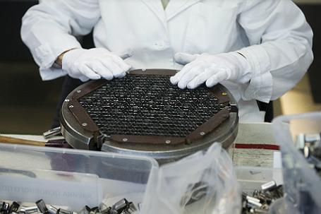 Цех сборки каркасов топливных кассет для энергетических атомных реакторов.