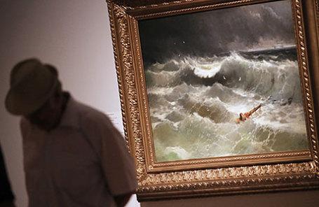 Картина Ивана Айвазовского «Буря на Азовском море в апреле 1886 года».