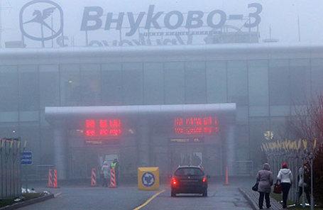 Контрольно-пропускной пункт терминала аэропорта «Внуково-3», где в 2014 году разбился самолет Dassault Falcon 50.