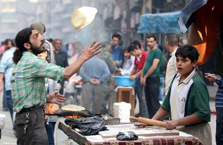 На улицах Алеппо.