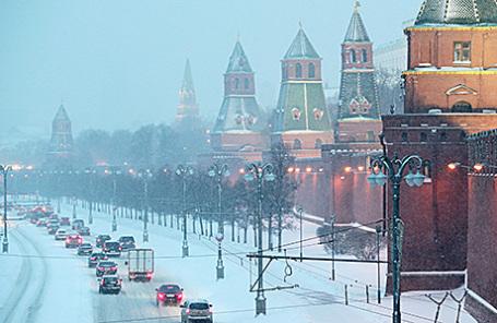 В столице России вближайшие часы предполагается мокрый снег игололед