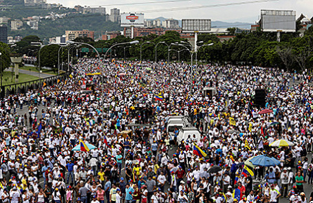 Протесты против президента Николаса Мадуро в Каракасе, Венесуэла.