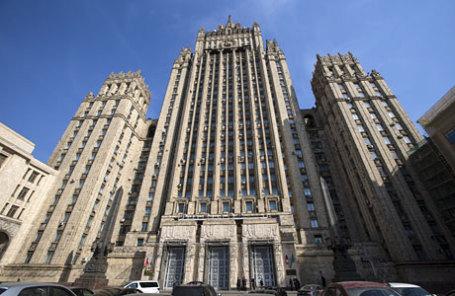 Здание министерства иностранных дел РФ на Смоленской площади.