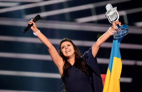 Победительница конкурса Евровидение 2016 певица из Украины Джамала.