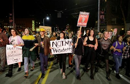 Протесты после избрания Дональда Трампа президентом США.