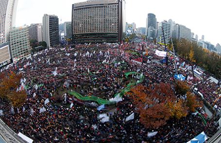 Протесты в Сеуле, Южная Корея, 12 ноября 2016.