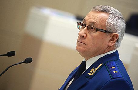 Назначенный на должность заместителя генерального прокурора РФ Леонид Коржинек на 400-м заседании Совета Федерации РФ, 16 ноября 2016.