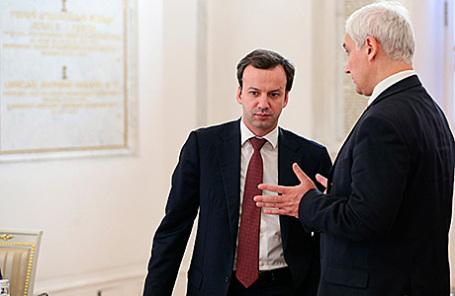 Аркадий Дворкович и Андрей Белоусов (слева направо).