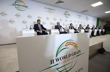 Во время II Всемирного зернового форума в Сочи.
