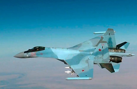 Истребитель Су-35С.