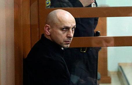 Обвиняемый по делу о теракте на Дубровке в 2002 г. Хасан Закаев в Московском окружном военном суде.