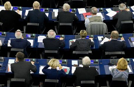 Заседание в Европарламенте.