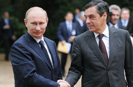 Владимир Путин и Франсуа Фийон.