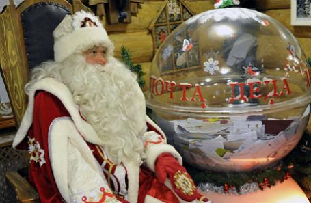 Открытие Новогодней почты Деда Мороза в его московской резиденции.