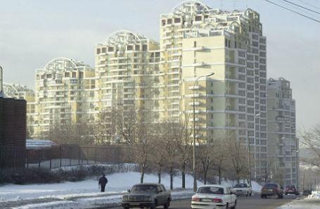 Жилой комплекс на улице Улофа Пальме, в котором проживают депутаты Госдумы.