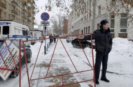 Оцепление возле Замоскворецкого суда г.Москвы