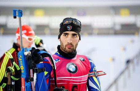 Французский биатлонист Мартен Фуркад.