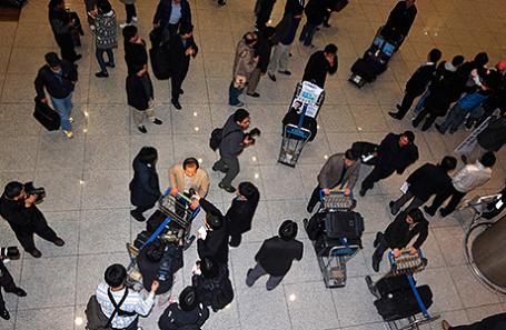 В аэропорту Сеула.