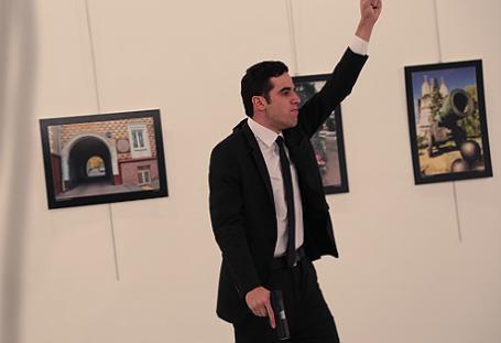 Неизвестный, открывший стрельбу на открытии фотовыставки «Россия глазами турок» и убивший посла России в Турции Андрея Карлова.