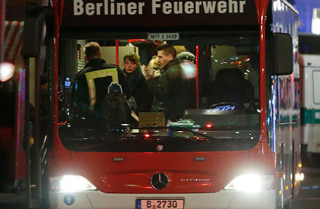 На месте теракта в Берлине.