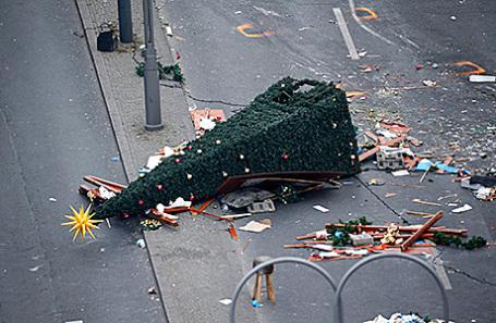 На месте теракта в Берлине, Германия.