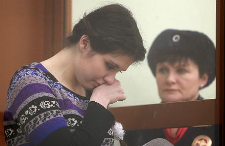 Варвара Караулова выступает с последним словом. 21 декабря 2016 года.