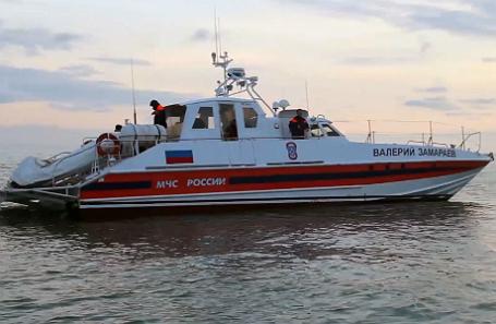 Поисково-спасательные работы в акватории Черного моря, где потерпел крушение самолет Ту-154.