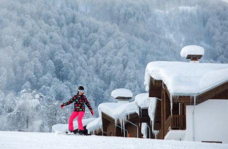 Посетительница горнолыжного курорта «Роза Хутор».