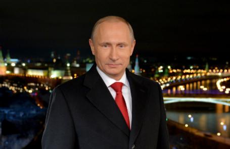 Президент РФ Владимир Путин во время новогоднего обращения к россиянам.