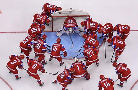 Молодежная сборная России по хоккею.