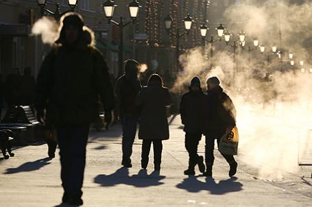 Морозы в России.