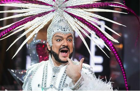 Филипп Киркоров во время съемок программы «Новогодняя ночь на Первом канале».