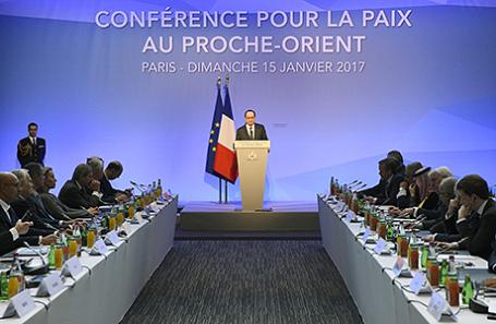 Конференция по палестино-израильскому урегулированию в Париже, 15 января 2017.