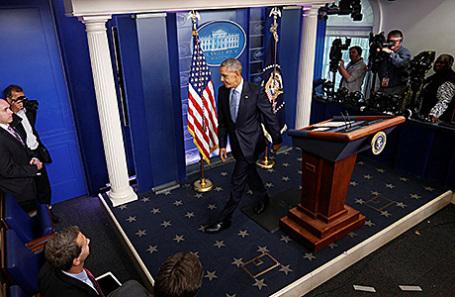 Барак Обама на заключительной пресс-конференции на посту президента США.