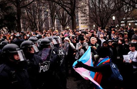 Акции протеста в связи со вступлением в должность 45-го президента США Дональда Трампа.