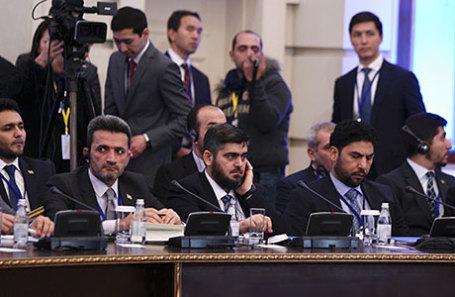 Сирийская оппозиция на встрече в Астане по вопросу Сирии.