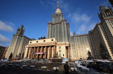 Главное здание Московского государственного университета имени М.В. Ломоносова на Воробьевых горах.