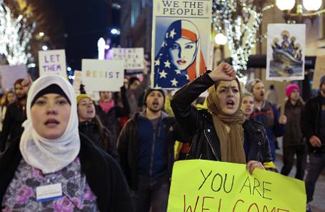 Протесты в США.